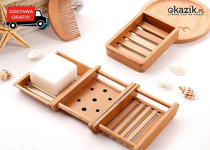 Bambusowa mydelniczka praktyczny dodatek do łazienki w stylu eko