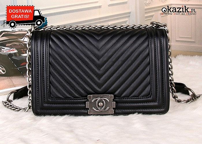 Absolutny HIT! Torebka listonoszka Chanel! 2 kolory! Modna i elegancka propozycja dla każdej kobiety!