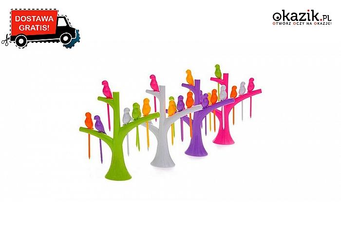 Idealne na przyjęcie! Kolorowe drzewko z wykałaczkami w kształcie ptaków (14,99 zł)