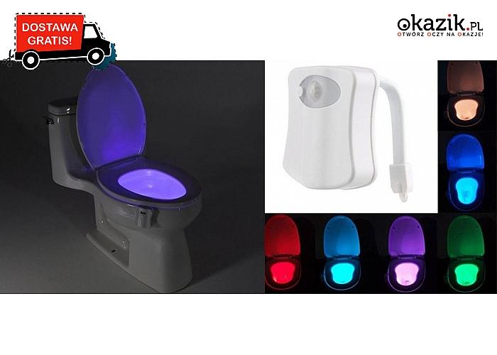Ledowa lampeczka do WC! Idealna podczas nocnych podróży do toalety