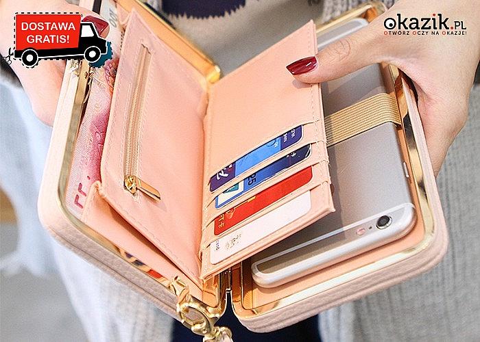 Wielofunkcyjny DAMSKI PORTFEL z wieloma przegródkami w tym nawet na smartfon! 11 kolorów do wyboru + darmowa przesyłka.