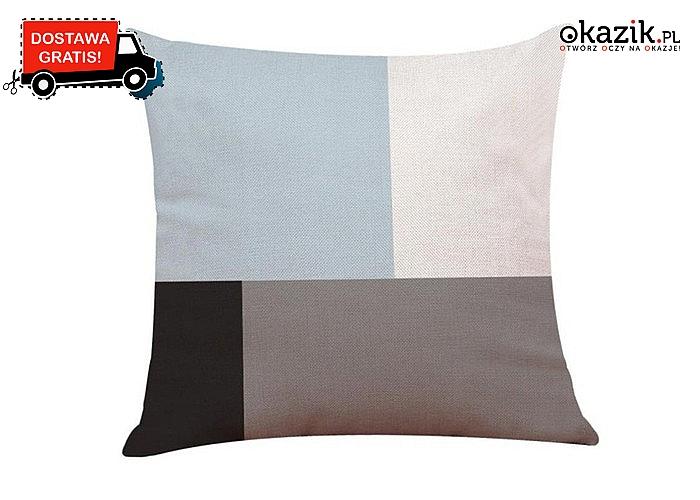 Bawełniana poszewka na poduszkę 45 x 45. Kontrastowe wzory do wyboru