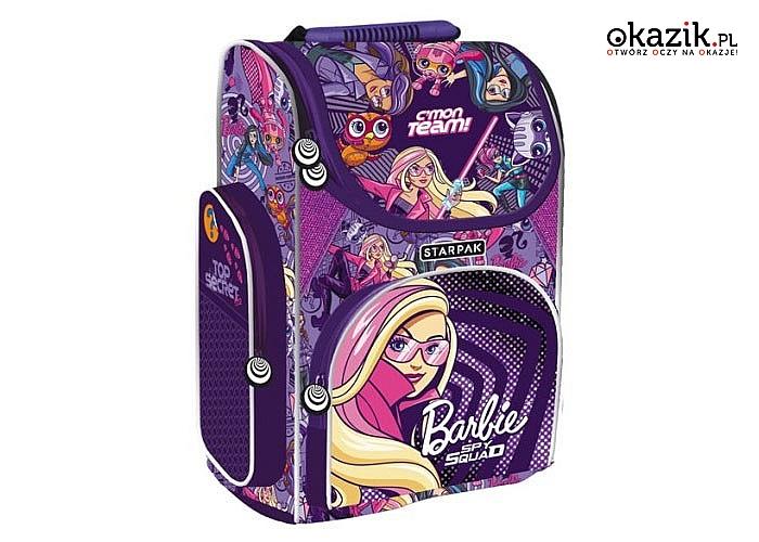 Tornister szkolny Barbie!  Wyposażony w system ergonomicznych pleców i ramion! Dwa modele do wyboru!