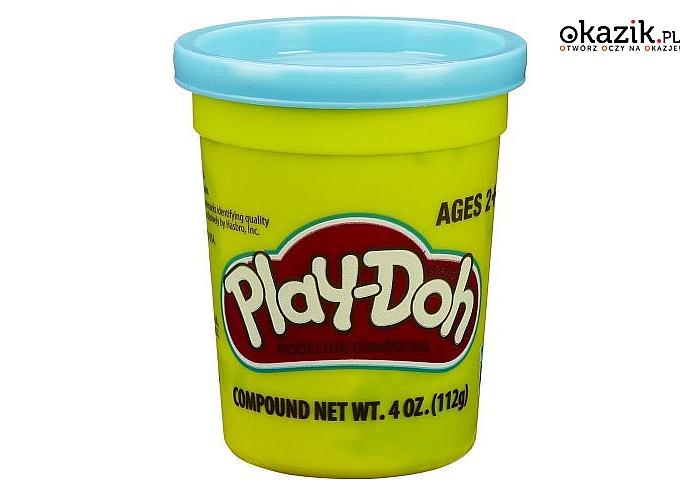 Hasbro: PlayDoh Tuba Pojedyncza na tacce, niebieska