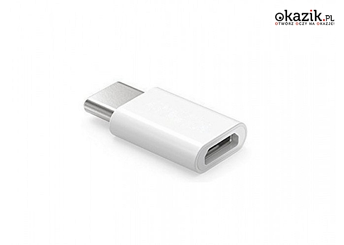 Elmak: SAVIO AK-30/W Adapter Micro USB (F) - USB 3.1 Typ C (M)