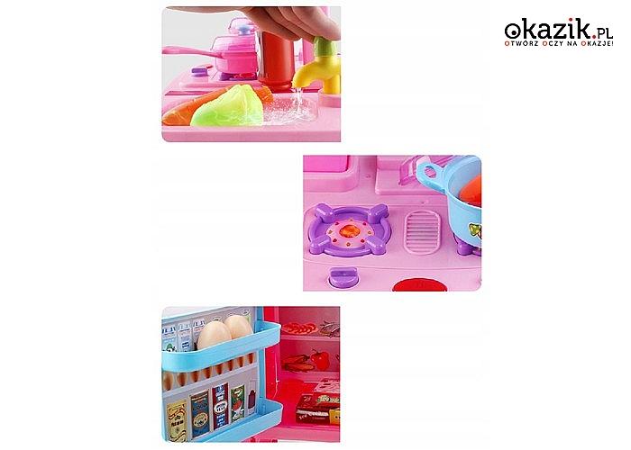 HIT! Duża zabawkowa kuchnia z lodówką i piekarnikiem
