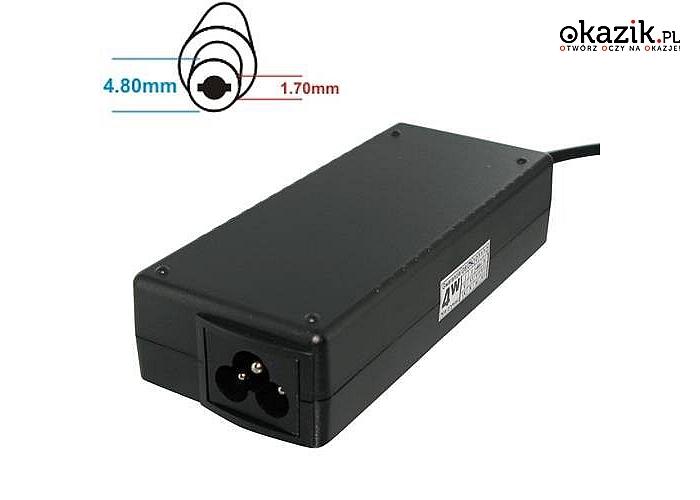 Whitenergy: Zasilacz 05460 19V | 4.74A 90W wtyk 4.8*1.7 mm HP Compaq