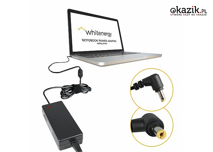Whitenergy: Zasilacz do laptopa 04082 19V, 6.3A, 120W, wtyk 5.5x2.5mm