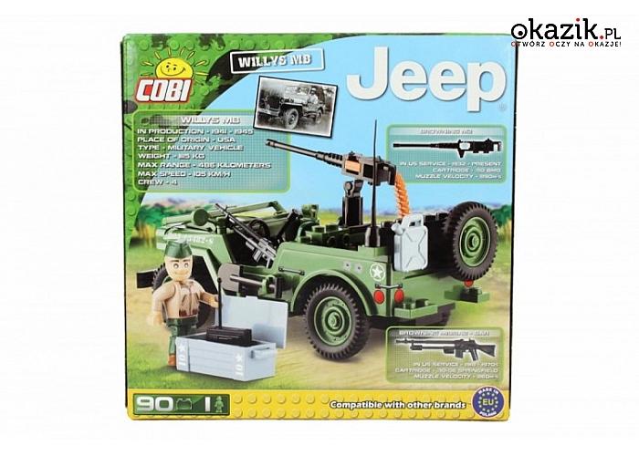 Cobi Klocki: COBI Jeep Willys MB 90 k l.