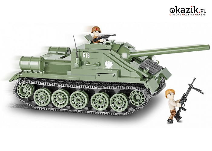 Cobi Klocki: Armia 413 elementów SU-85 Radzieckie działo samobieżne