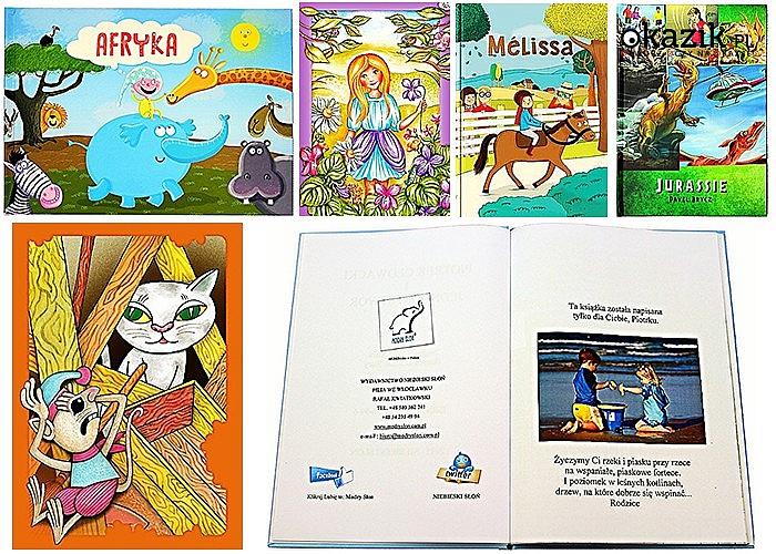 Hit! Książki dla dzieci! Ślicznie wydane! Możliwość zamieszczenia fotografii na stronie z dedykacją!