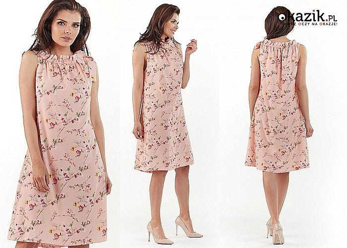 Zwiewna sukienka w modnym fasonie. Różne wzory i rozmiary