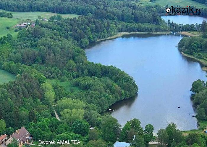 Ferie Dworku Amaltea na Kaszubach! Komfortowe pokoje nad jeziorem Wałdowskim!Śniadania!Darmowy parking i WiFi!