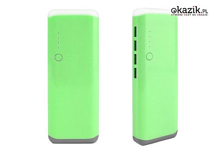 Power Bank 30 000 mAh z 4 USB i latarką LED