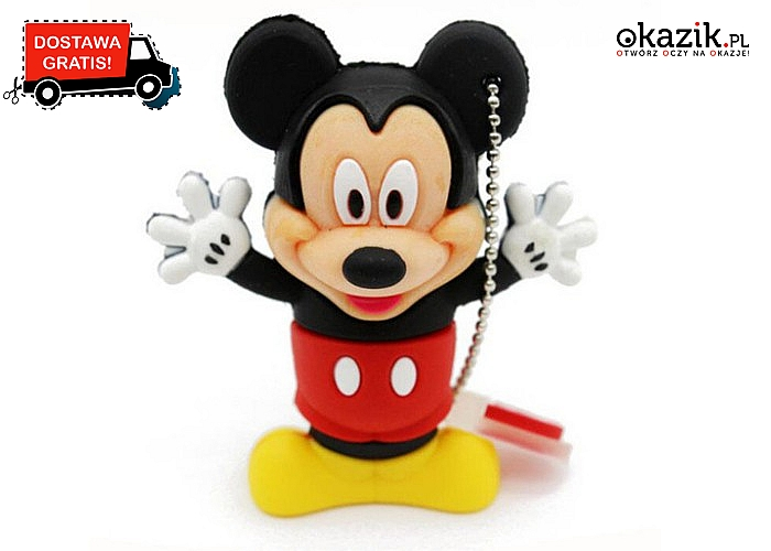 Pendrive SHANDIAN 32 GB. Oryginalny kształt Mickey i Minnie Mouse