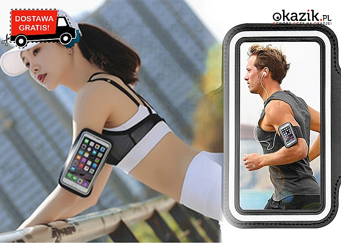 Opaska na rękę na telefon. Idealna podczas biegania! Miej swój smartfon i muzykę zawsze przy sobie!