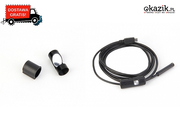 Endoskop USB kompatybilny z smartfonami z systemem Android i komputerami. Wysyłka GRATIS!