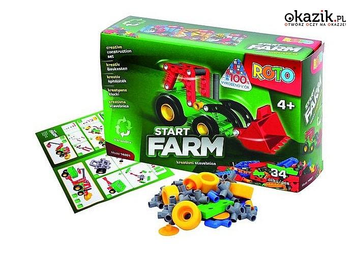 Klocki ROTO! Niezliczone możliwości kombinacji! Rozwijają dziecięce umiejętności i wyobraźnię! 3 modele! Wysoka jakość!