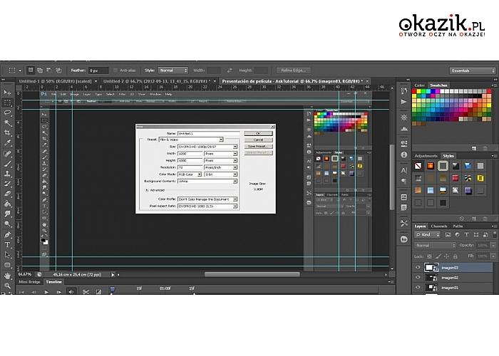 3, 12, 24 miesięczny dostęp do internetowych kursów z pakietów Adobe(photoshop CS6, Illustrator CS6 oraz Lightroom 5)