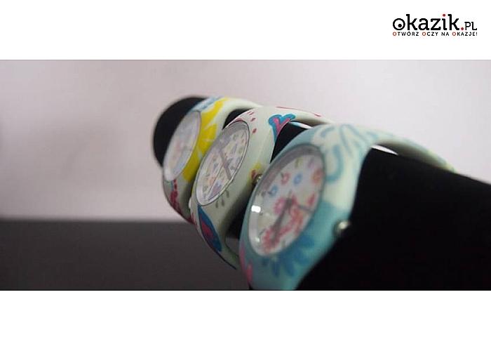Zegarek silikonowy z designerskim wzorem!