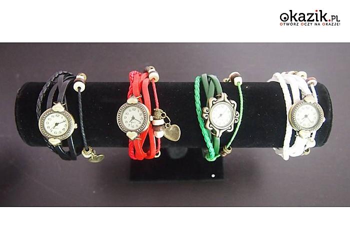 Sznurkowy zegarek! Modna bransoletka i zegarek w jednym! Różne kolory do wyboru! Tylko 17 zł!