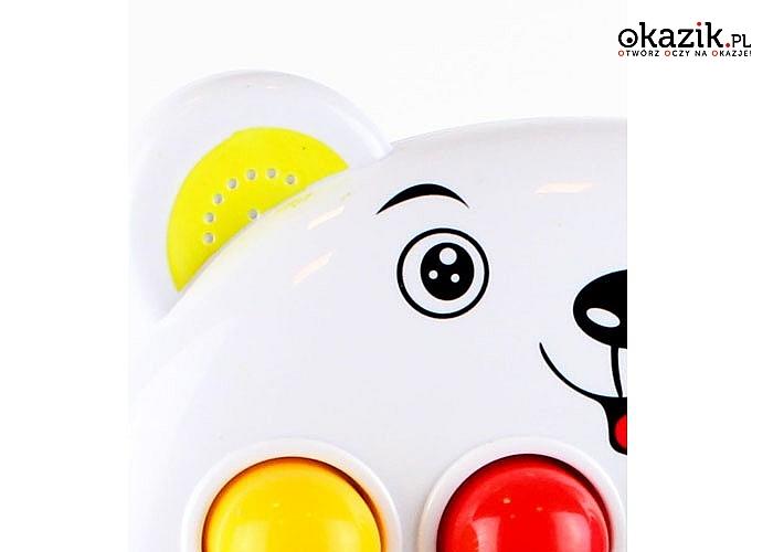 Gra zręcznościowa Enjoy Beat Chomik! 28 melodii! Wspaniała zabawa gwarantowana! Zabawka posiada 3 tryby