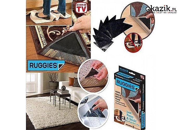 Podkładki antypoślizgowe zabezpieczają przed rolowaniem się i przesuwaniem dywanów i wykładzin