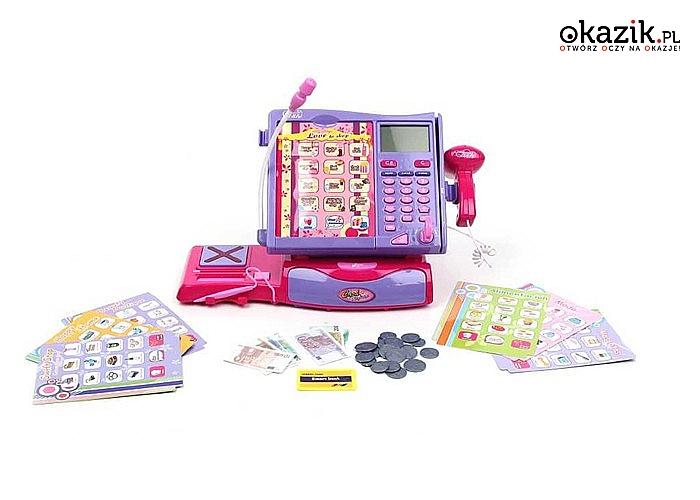 Nauka i zabawa Twojego dziecka  z dużą kasą fiskalną elektroniczną