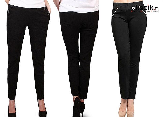 Stylowe spodnie damskie doskonałe na co dzień dla wszystkich Pań o pełniejszych kobiecych kształtach