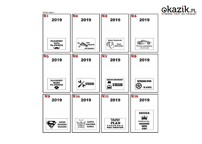 Kalendarz Książkowy A5 Dzienny na rok 2019 .Spersonalizowany .Wygrawerowany,z dowolnym napisem. Wyjątkowy prezent.