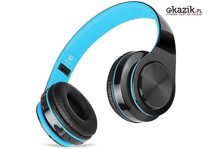 Słuchawki Bezprzewodowe Bluetooth! Nowoczesny design i komfort użytkowania! Nawet do 10m od źródła dźwięku!