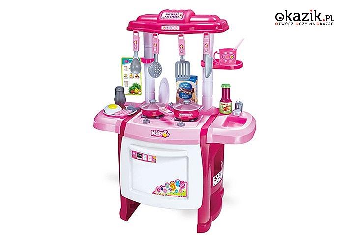 Kuchnia dla dzieci z akcesoriami. Bogate wyposażenie!