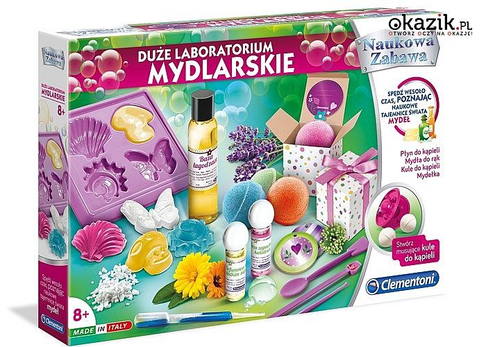 Kreatywny zestaw do samodzielnego tworzenia mydełek firmy Clementoni!