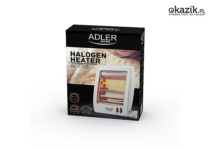Masz dosyć chłodu w domu lub w pracy? Grzejnik halogenowy AD 7709 o mocy 800W rozwiąże ten problem szybko i skutecznie!
