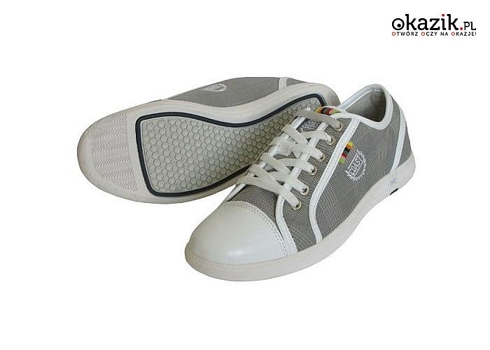 Buty sportowe, damskie i męskie w kolorze szarym. Różne rozmiary