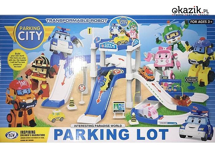 Zestaw Tor Samochodowy Parking City Zabawka-fantastyczna zabawka na jesienne wieczory