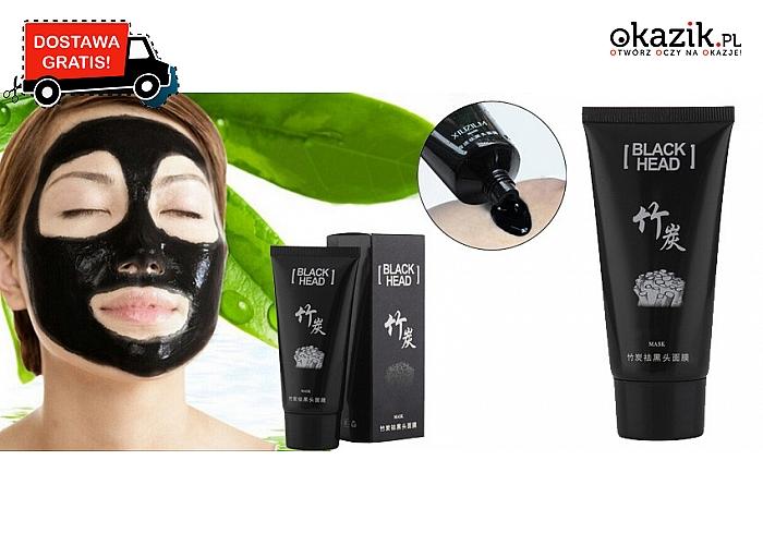 Pozbądź się zaskórników! Czarna maska na twarz z aktywnym węglem z bambusa (19,90 zł)