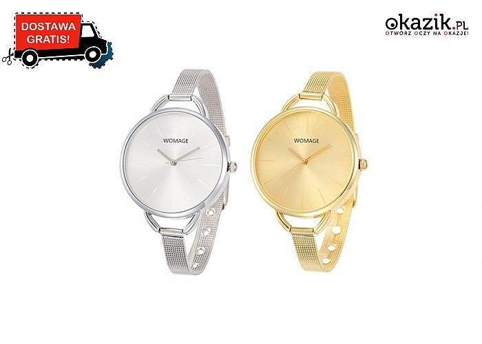 Delikatny i elegancki damski zegarek idealny do kreacji wieczorowej (19zł)