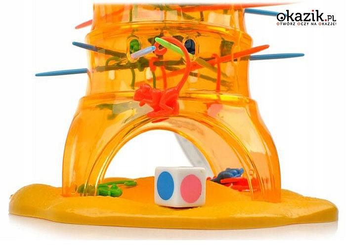 Bierki inne niż wszystkie! Rodzinna gra – Spadające Małpki! Wspaniała zabawa dla każdego!