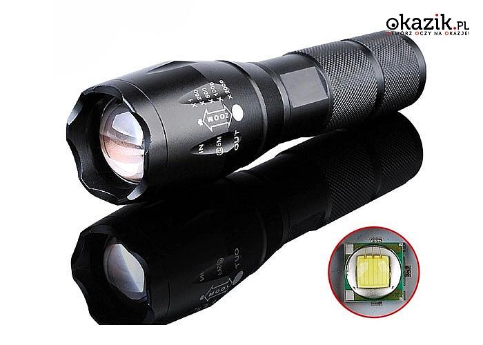 Mocna latarka szperacz z funkcją zoom