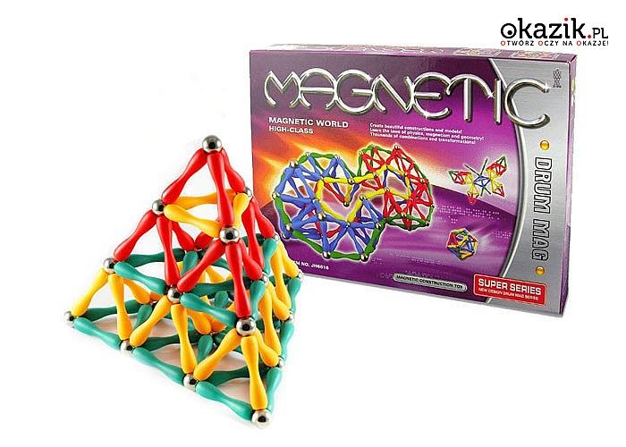 Klocki magnetyczne rozwijają twórcze myślenie, wyobraźnię przestrzenną, uczą cierpliwości i skupienia