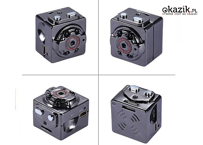Mini kamera szpiegowska przenośna z detektorem ruchu .Możesz ją zamontować w dowolnym miejscu