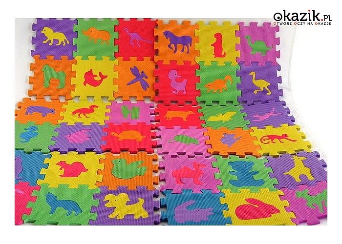 Puzzle piankowe 72 elementy + torba gratis!