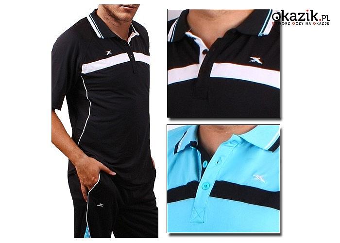 2-częściowy męski komplet sportowy! Koszulka szybkoschnąca + szorty! Dla modny i aktywnych mężczyzn!