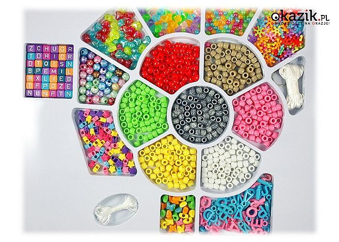 MEGA zestaw do tworzenia biżuterii DIY -zrób to sam!! 1200 elementów!!
