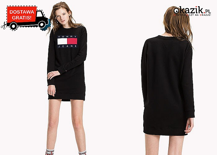 Długa bluza damska TOMMY! Najwyższej jakości materiał! 2 kolory do wyboru! Mnóstwo rozmiarów!