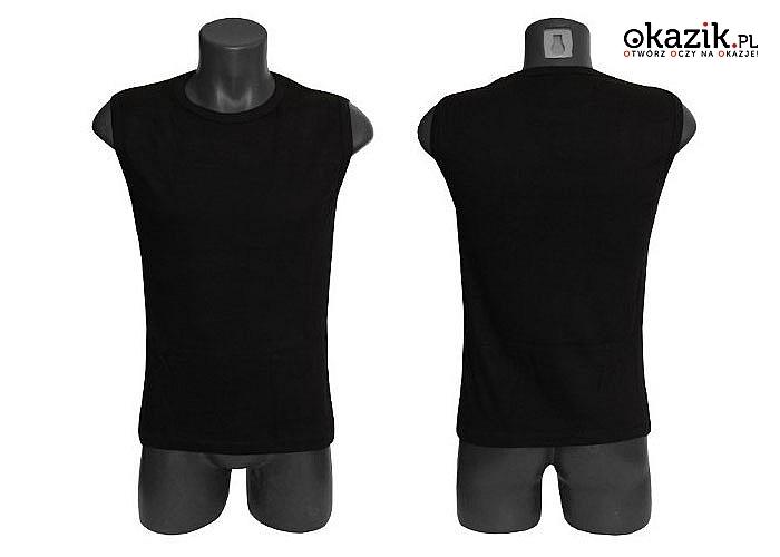 Koszulka męska bez rękawów idealnie sprawdzi się podczas codziennego użytkowania jak i jako odzież sportowa