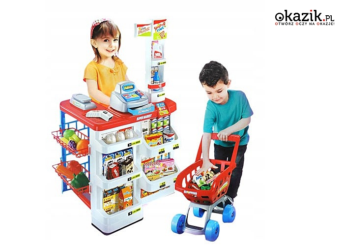 Zabawa w zakupy! Supermarket dla dzieci! Nauka poszczególnych produktów oraz posługiwania się środkami płatniczymi!