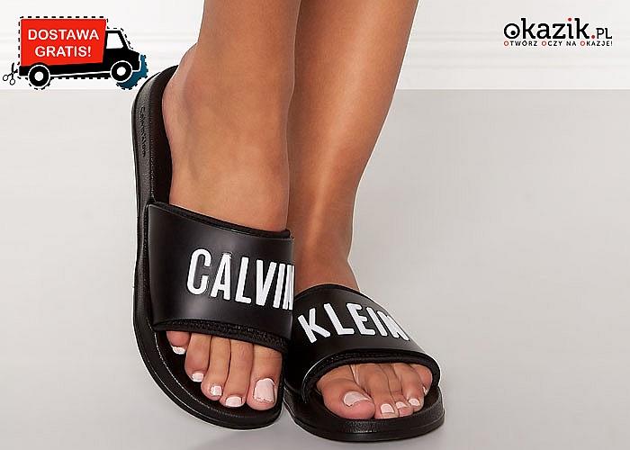 Klapki Calvin Klein! Najwyższa jakość wykonania! Mnóstwo rozmiarów!