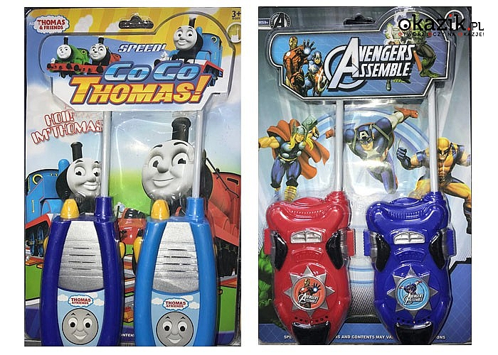 Krótkofalówki Walkie Takie to zabawka dla wszystkich dzieci,bawi i cieszy niezależnie  od wieku
